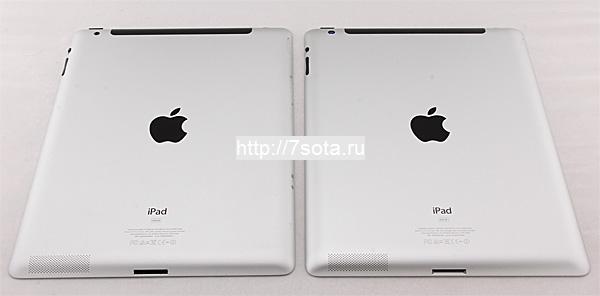 Сравнение iPad 3 и iPad 2, внешние отличия.